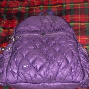 Purple juicy couture backpack.
